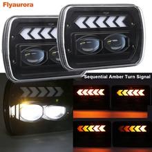 7X6 phare LED pour Ford F-250/305/450/550 Super Duty Econoline pour Chevrolet GMC Savana pour Jeep Wrangler YJ MJ Cherokee XJ