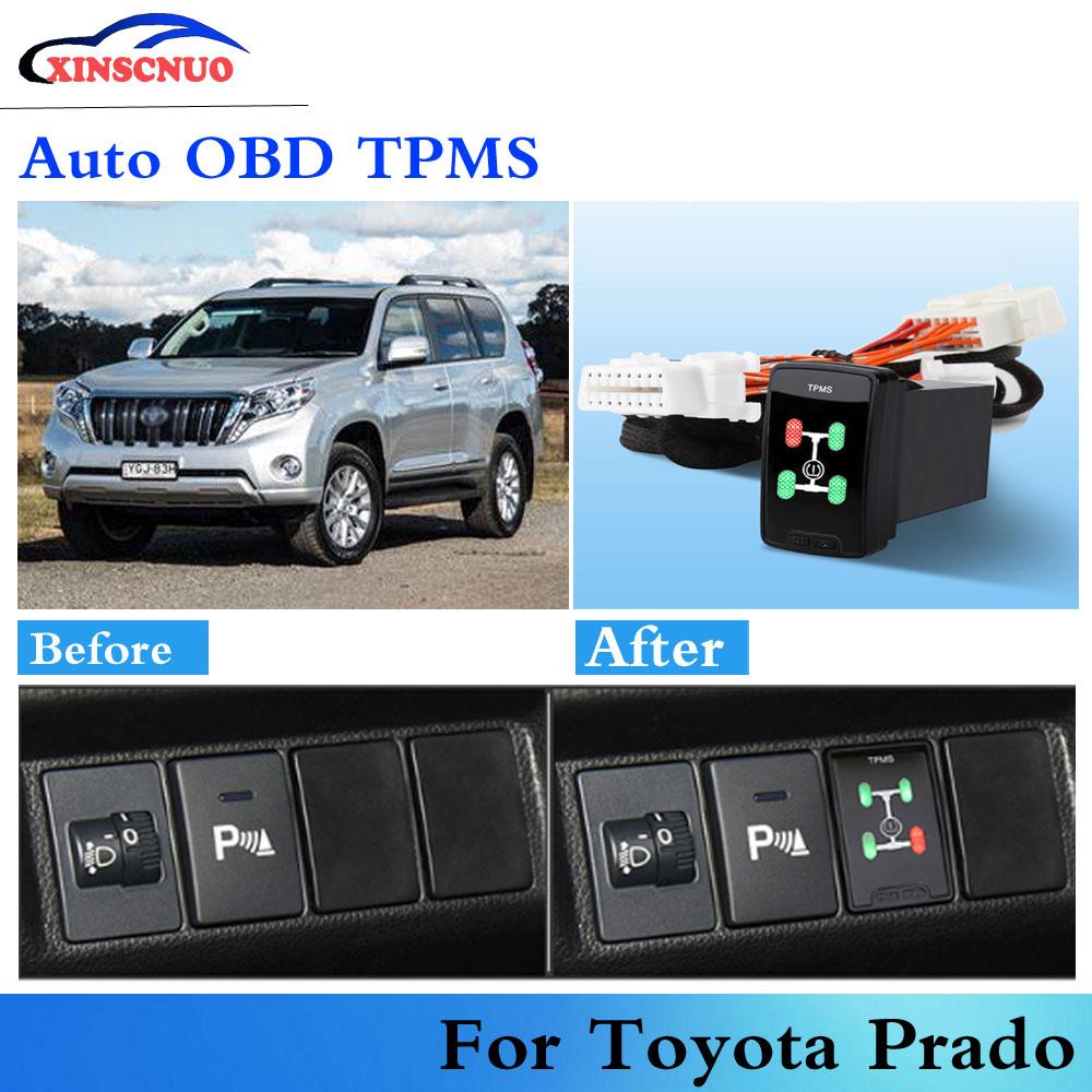 Car OBD TPMS Tire Pressure Monitoring System For Toyota Prado 2010-2017 Auto Security Alarm System C