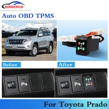 Car OBD TPMS Tire Pressure Monitoring System For Toyota Prado 2010-2017 Auto Security Alarm System C
