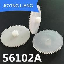 56102A 0.5M diamètre dengrenages   29mm 56T 10 dents, Double couche en plastique de Transmission dengrenages petites pièces, accessoires de modèle davion de jouet