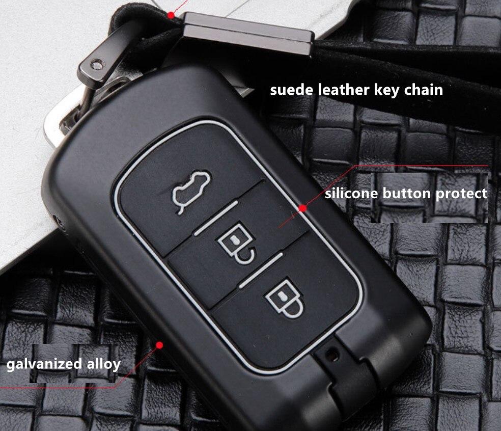 Accesorios para llaves funda de bolsillo para Mitsubishi Outlander Lancer Pajero Sport ASX RVR L200 2/3 botón llave inteligente