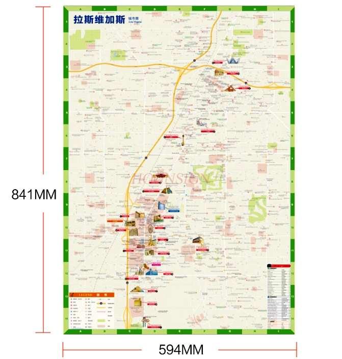 Mapa de viaje de Las Vegas, Guía de viaje de atracciones de...