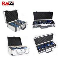 raizi 1set vacuum brazed diamond drill core bits kit aluminum case m14 hole saw cutter for porcelain tile granite marble stone