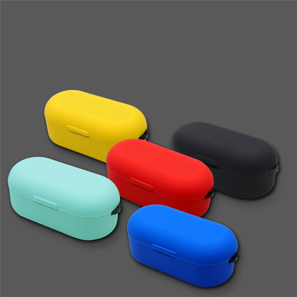 Funda suave de silicona para auriculares TOZO T10, auriculares inalámbricos a prueba de golpes Bluetooth 5,0, funda protectora completa para auriculares