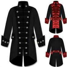 Époque victorienne Steampunk France veste traditionnelle Trench Double boutonnage tenue militaire tailleur gothique redingote pour adulte hommes garçon