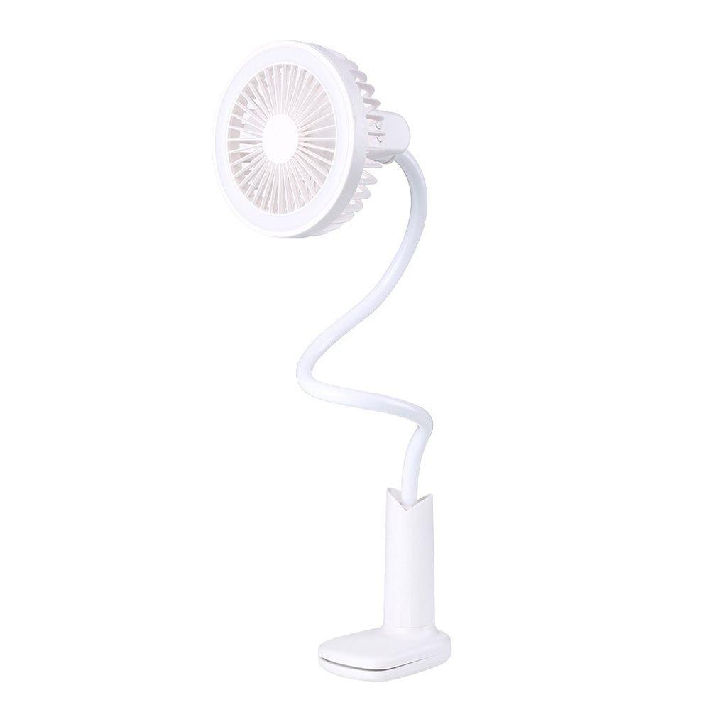 Creative Personality Mini Usb Charging Clip Shower Table Lamp Small Fan Student Fan Summer Portable Small Fan