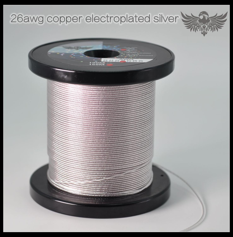 Auriculares OCC Chapado en plata línea de actualización 7N UP-OCC plata 26AWG MMCX UPOCC 99.99998%