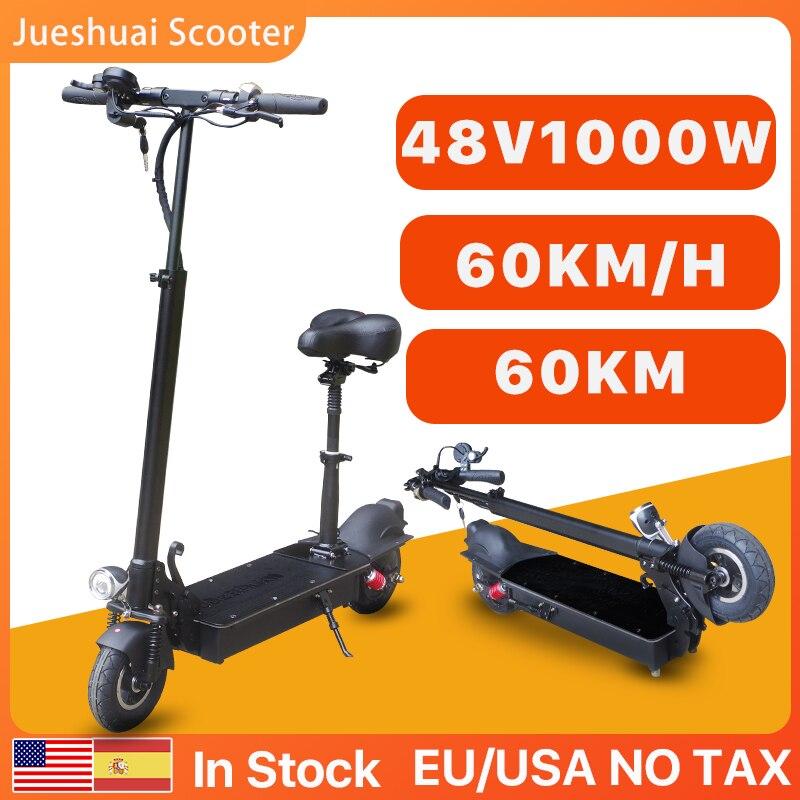 Patinete eléctrico de 48V para Adulto, Scooter con Motor de 1000W, 60...