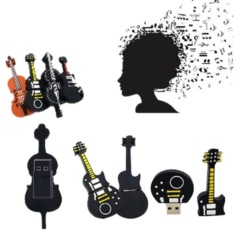 10 Styles ViolinGuitar Musical Instruments Usb Flash Drive High Quality Usb Stick 512GB Pendrive 128GB 256GB Pen Drive U Disk