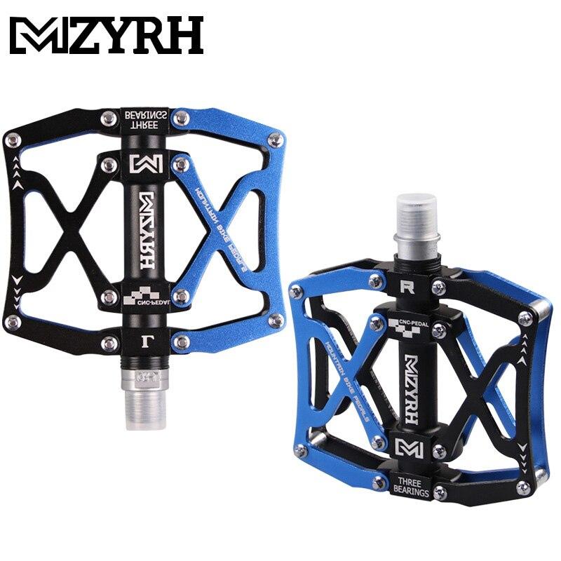 MZYRH Aluminuim MTB bicicleta de montaña 3 rodamientos sellados pedales de bicicleta de ancho