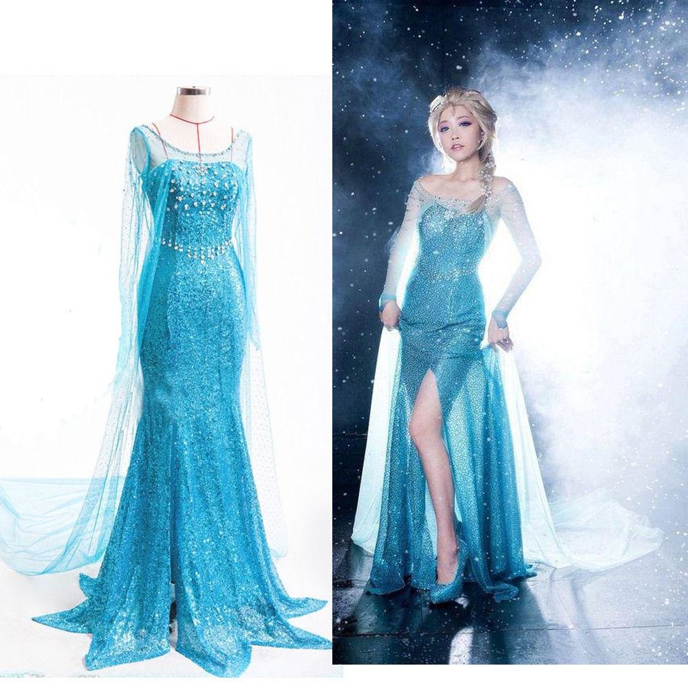 Disfraz de Elsa y Princesa para adulto, vestido de fiesta de Halloween, Elsa, para la nieve