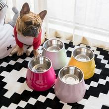 Stainless Steel Dog Bowl Stand Pet Feeder Dispenser Non Slip Dog Plate Accessorie Comedero Perro Gamelle Chien Dog Feeding DD60G