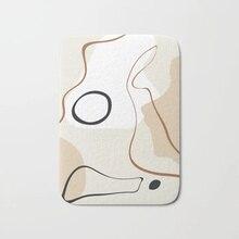 Tapis de salle de bain pour porte dentrée   Tapis de bain abstrait de style Minimal, tapis de flanelle absorbant et antidérapant