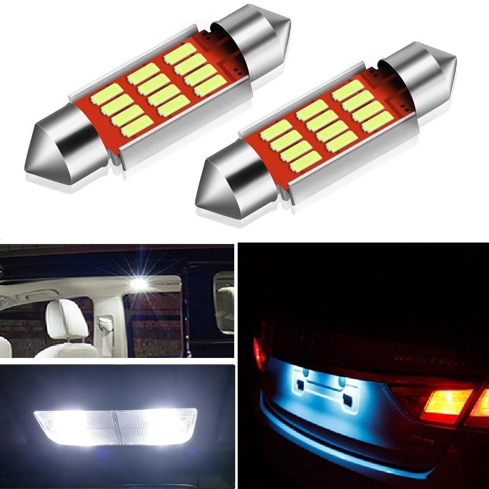 2X C5W LED CANBUS para VW Volkswagen Touareg 2004 2006 2005 2007 2010 luces interiores del coche bombilla lámpara de matrícula sin Error OBC