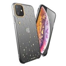 I-BLASON For iPhone 11 Case 6.1 inch (2019 Release) OMG Series Black/Star Slim Liquid Soft Rubber Protective Silicone Case Cover