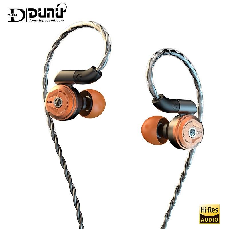 Dunu dk 2001 hi-res hybrid drivers (3ba + 1dd) fone de ouvido iem com mmcx auto-travamento rápido mutável plug dk2001 DK-2001