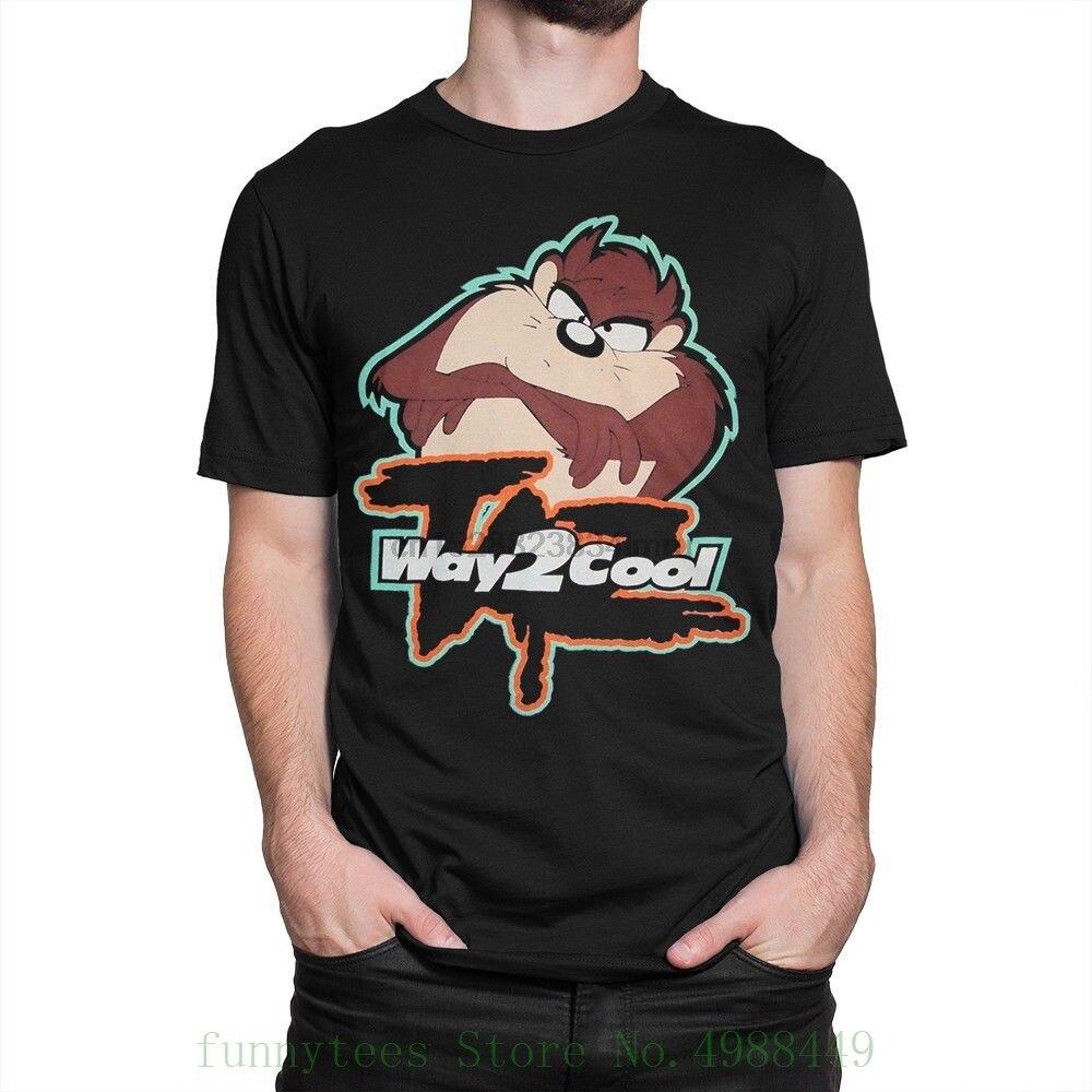 Taz way 2 Cool camiseta Tasmanian Devil Loony tones camisa todos los tamaños camisetas hombres Camisetas cuello redondo