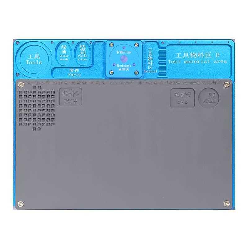 WL mini Microscope Base fixe intégré multifonctionnel en alliage daluminium Mat téléphone PCB réparation pad avec établi de soudage