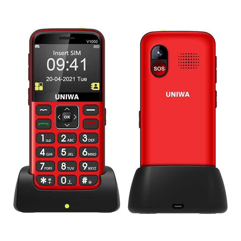 UNIWA V1000 4G Feature Cellphone 2.31 inch Big Button Mobile Phone Flashlight 1700mAh Bluetooth Telephone in Russian Keyboard enlarge