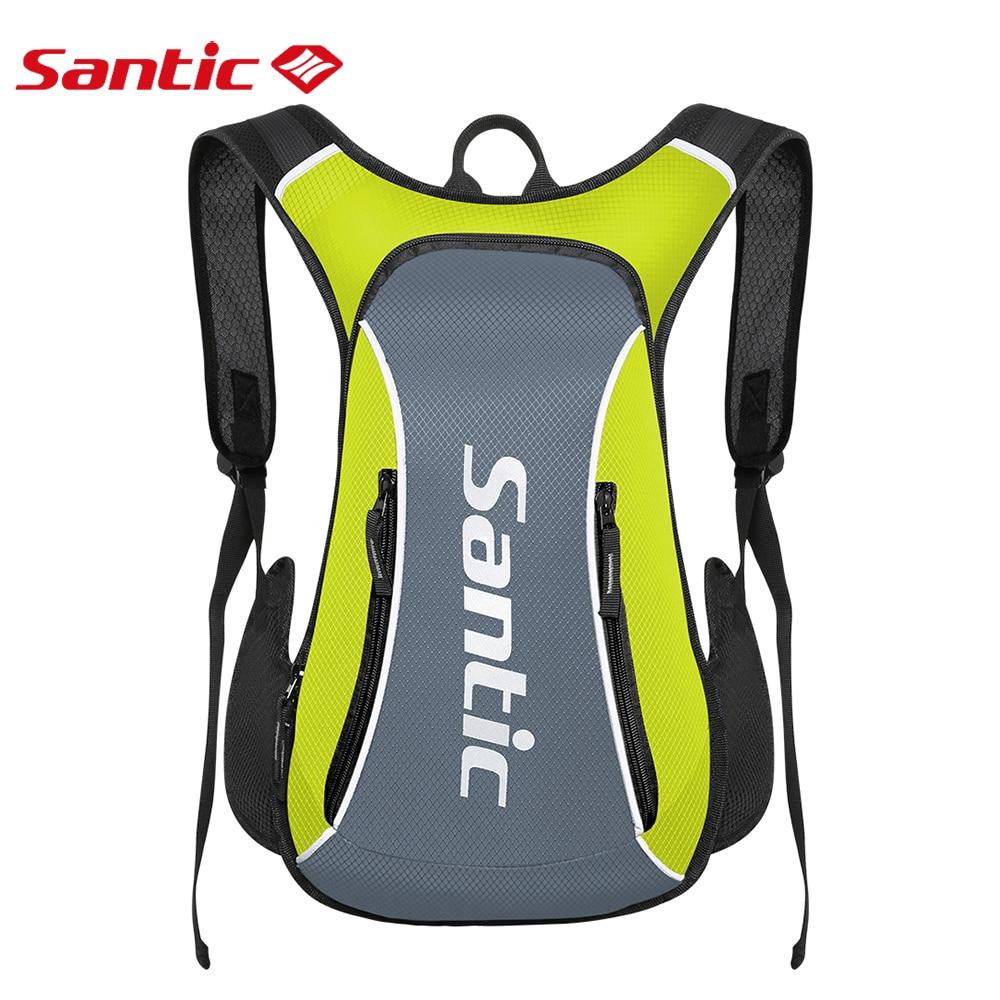 Santic сумка для велосипеда 15 литров Ультра легкий водонепроницаемый светоотражающий рюкзак мужской велосумка Велосипед MTB для спорта на откр...