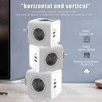 2021power strip plug extension socket power cube usb port outlets eu plug terminal with wall adapter 250v with usb multi outlet