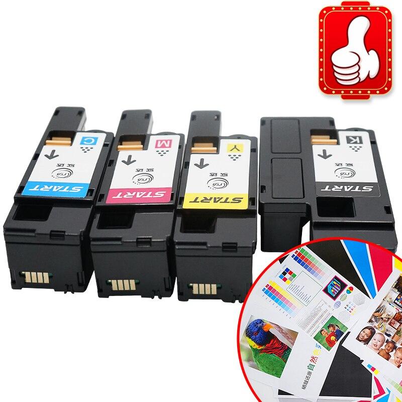 Compatível Cartucho de Toner para Fuji Xerox DocuPrint CP105B CP205 CM205B CM205FW CM205F 4pcsCP215W CM215B CM215FW