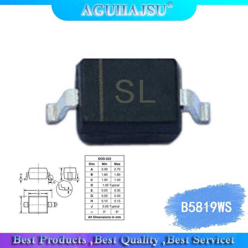 100pcs 0805 S4 B5819WS smd diodi IN5819 SOD-323 Patch di diodo Schottky