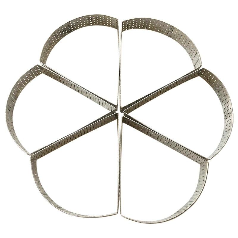 Anneau à tarte perforée Triple angle en forme de BESTFan anneau à gâteau Quiche moule à tarte moule à tarte anneau à tarte avec trou cercle à tarte aux fruits