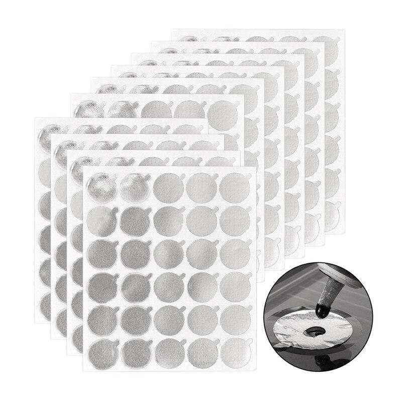 300 pces adesivo impermeável descartável enxertia cílios cola especial estanho folha almofada prata remendos enxertia extensão ferramenta