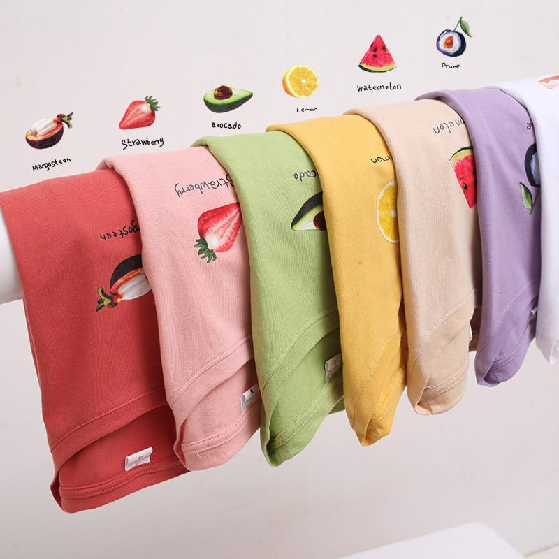 Moda feminina abacate verde manga curta camiseta feminina verão 2020 novo estudante solto fruta coreana camiseta menina streetwear topo
