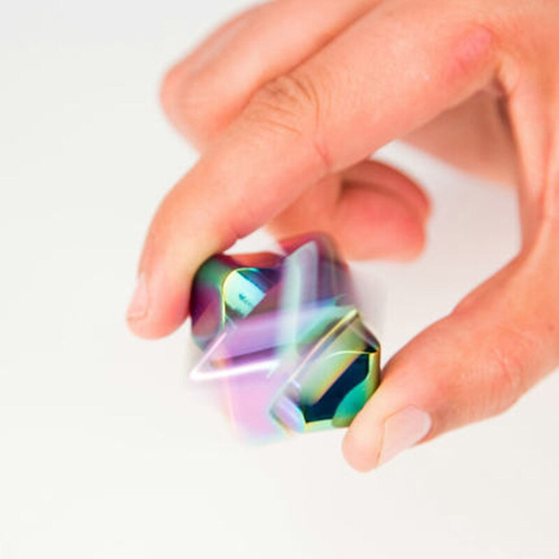 Man Woman Colorful Rotating Gadget Spinner Lighten Toy Metal Hand Spinner Silent Top Finger Spinner enlarge