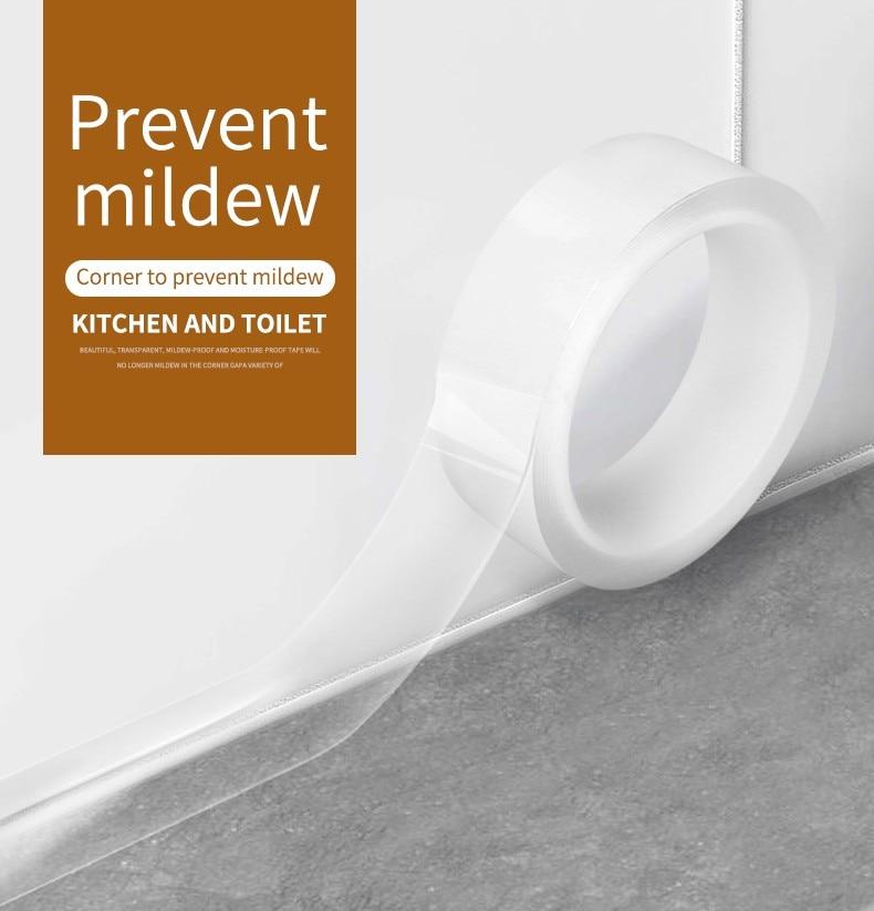Super arreglar baldosas de cerámica mildewproof brecha cinta de esquina de baño grieta de plakband klebeband arreglar cinta resistente al agua