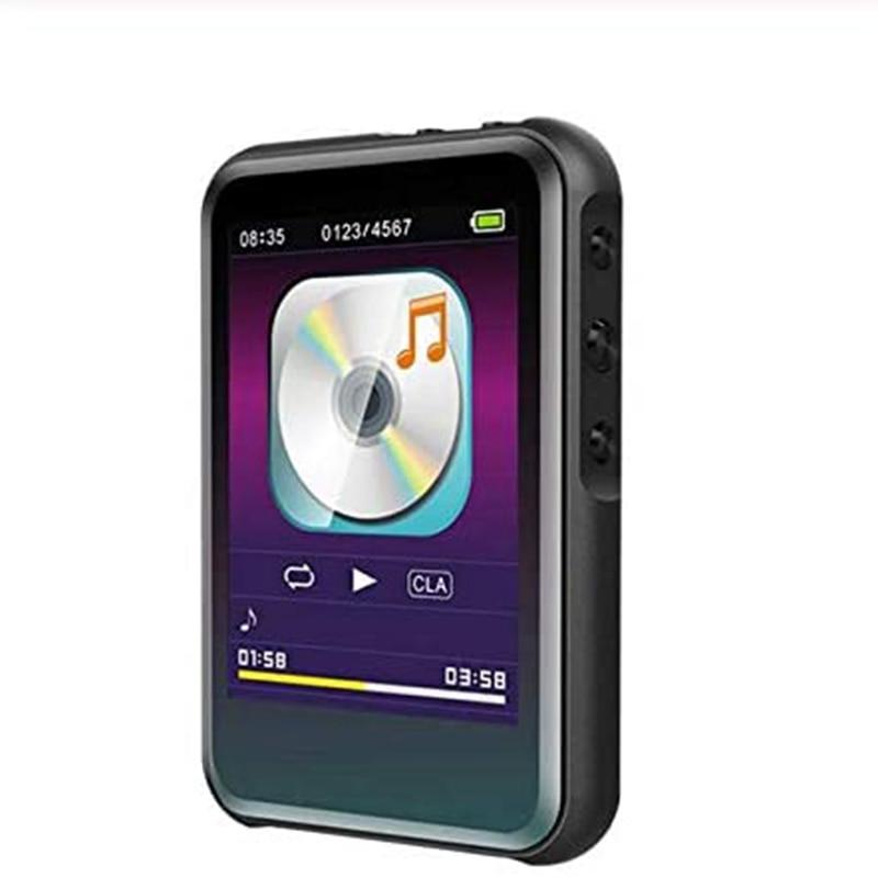 Reproductor de MP3 con Bluetooth, reproductor de música Hi-Fi estéreo, Mini reproductor portátil de e-book, reproductor MP4 Delgado