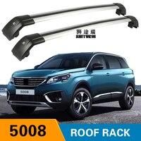SHITURUI 2Pcs Roof bars For PEUGEOT 5008 2016 2018 2019 2020 Aluminum Alloy Side Bars Cross Rails Roof Rack Luggage Carrier