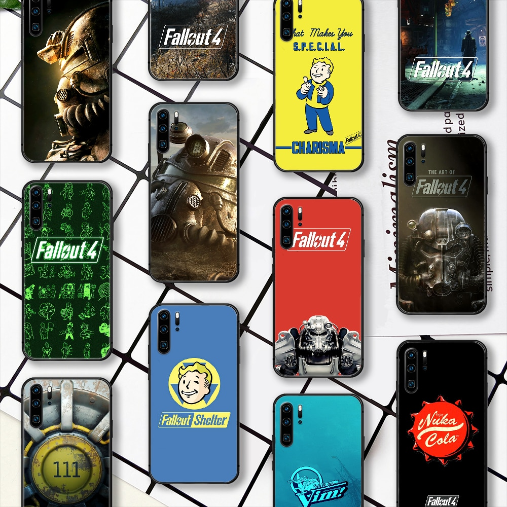 Fallout 4 Game Phone Case For Huawei P Mate Smart 10 20 30 40 Lite Z 2019 Pro black Bumper Painting
