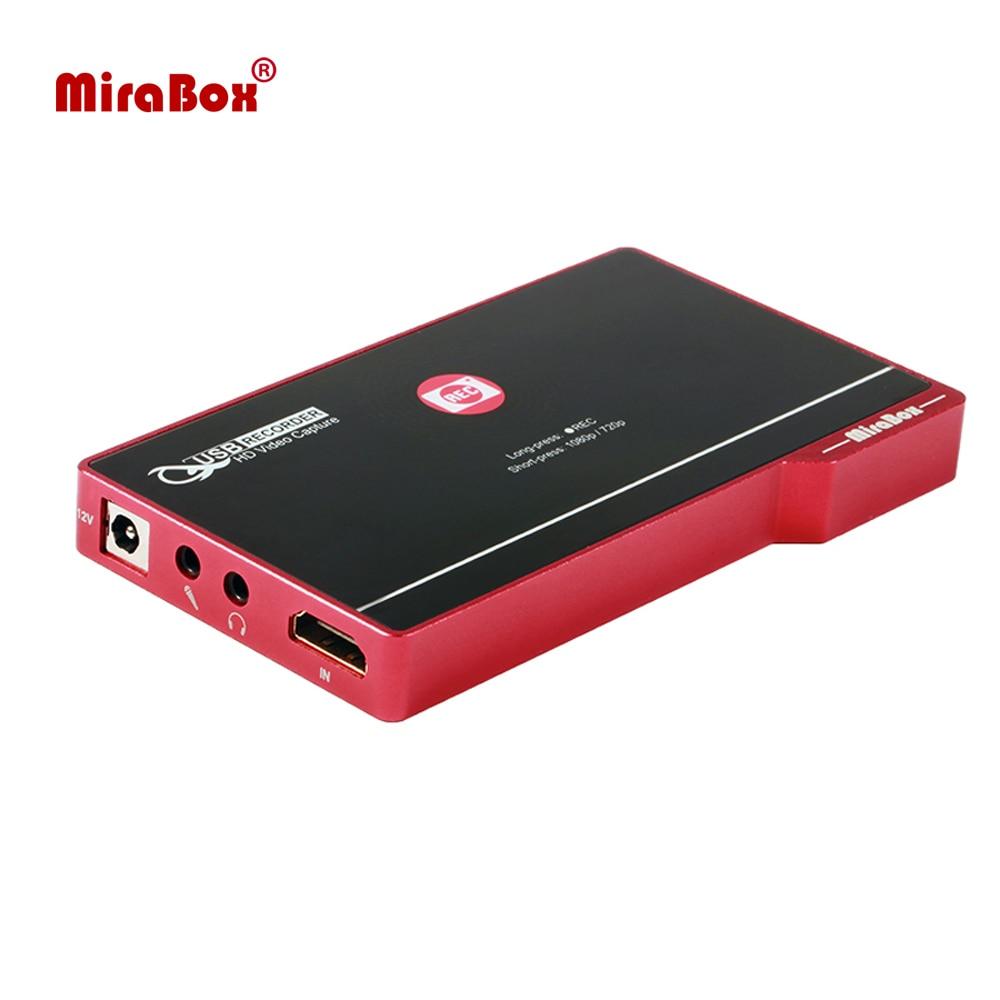 MiraBox شاشة مسجل اللمس التحكم HDMI فيديو التقاط مسجل مع إخراج الصوت ل Netflix يوتيوب 1080P شاشة التقاط