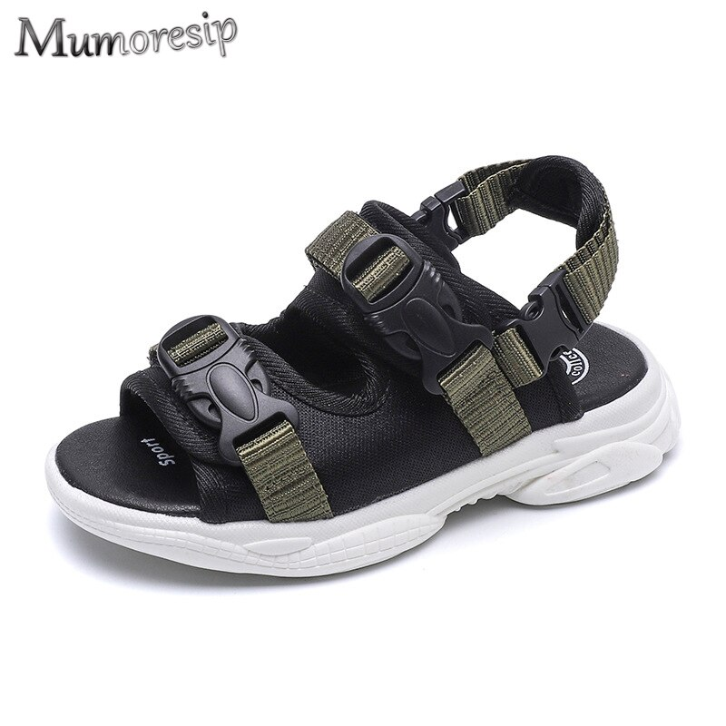 Mumoresip ブランド子供スポーツサンダルバックルソフト快適なファッション子供のビーチシューズホット販売 2020 夏