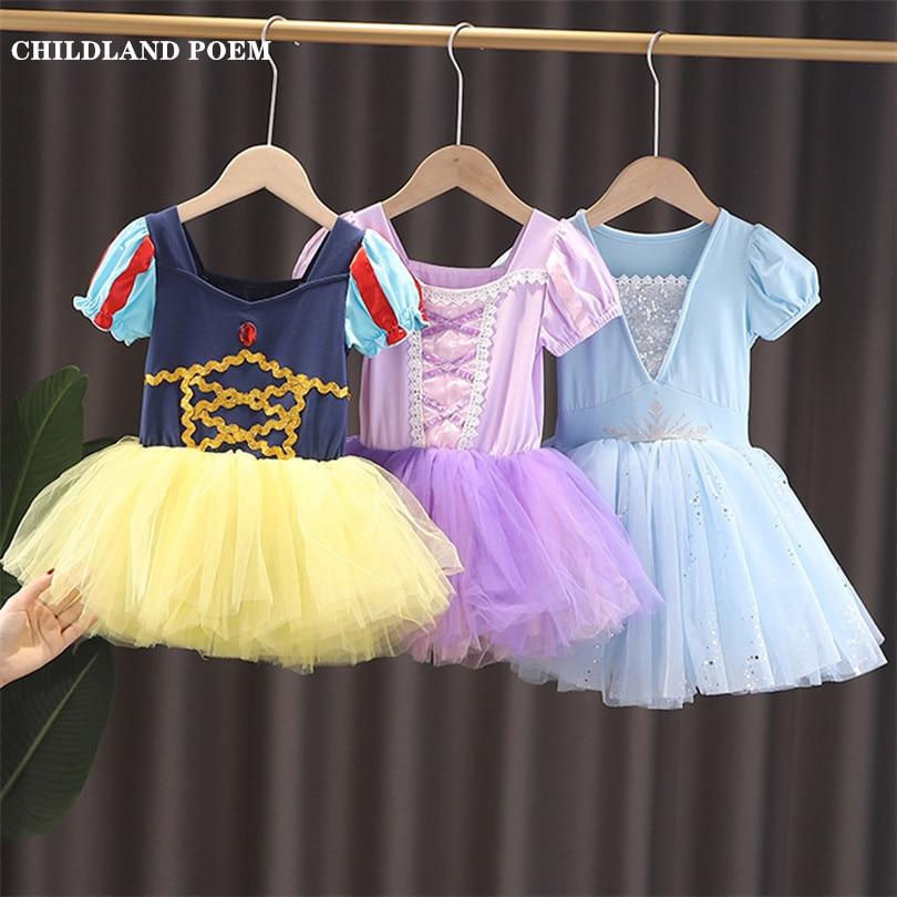 Vestidos infantiles para niñas vestido de princesa Elsa Anna Blancanieves disfraz tutú para niñas vestido de Ballet para niñas