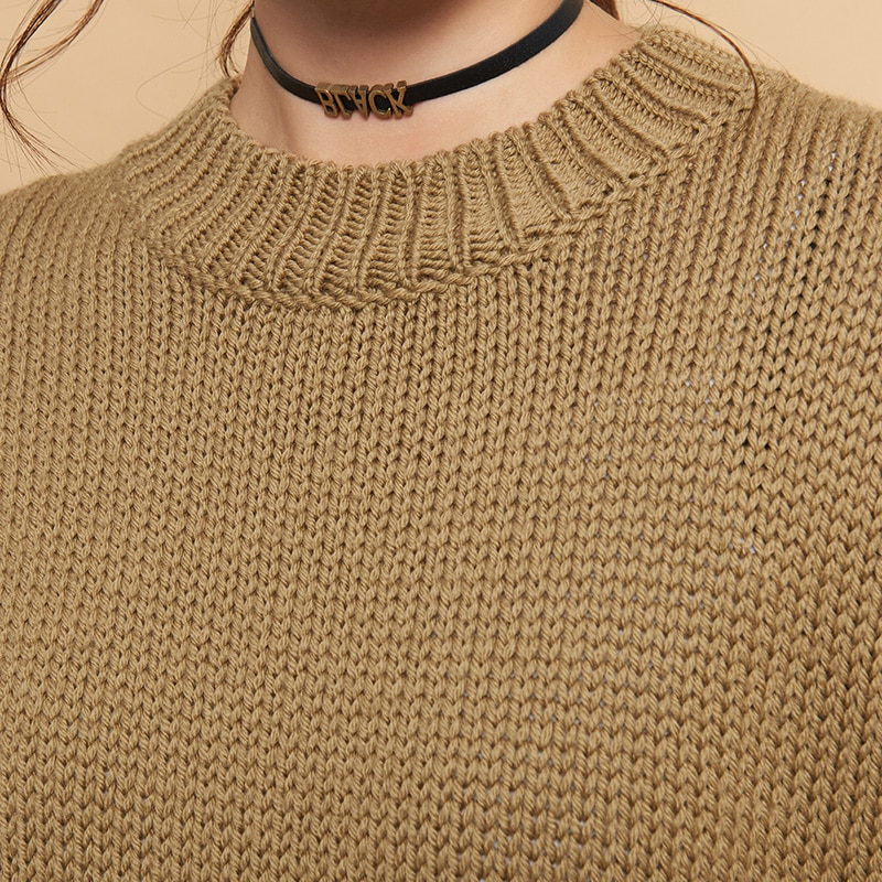 Tailor Shop Custom Made New Wool Animal Figure Round Neck Long Sleeve Pullover Sweater Women enlarge