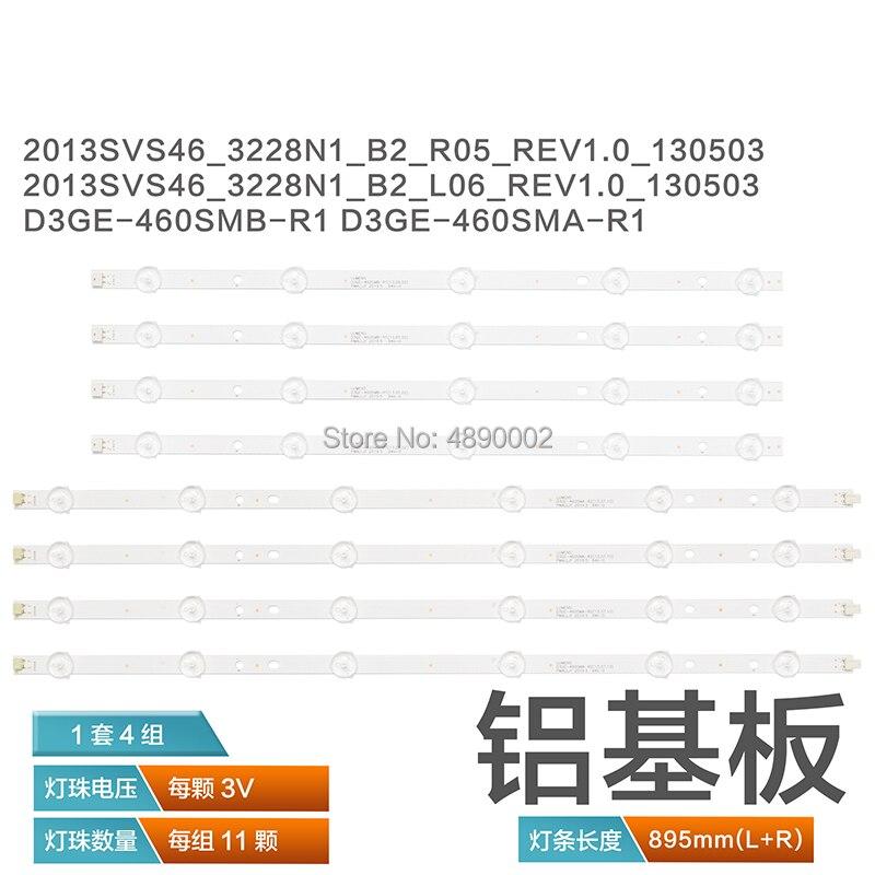 """Tira de luces LED trasera para Samsung, pantalla de 46 """", TV 2013SVS46, CY-DF460BGLV1H, D3GE-460SMB-R1, UN46E, D3GE-460SMA-R2"""