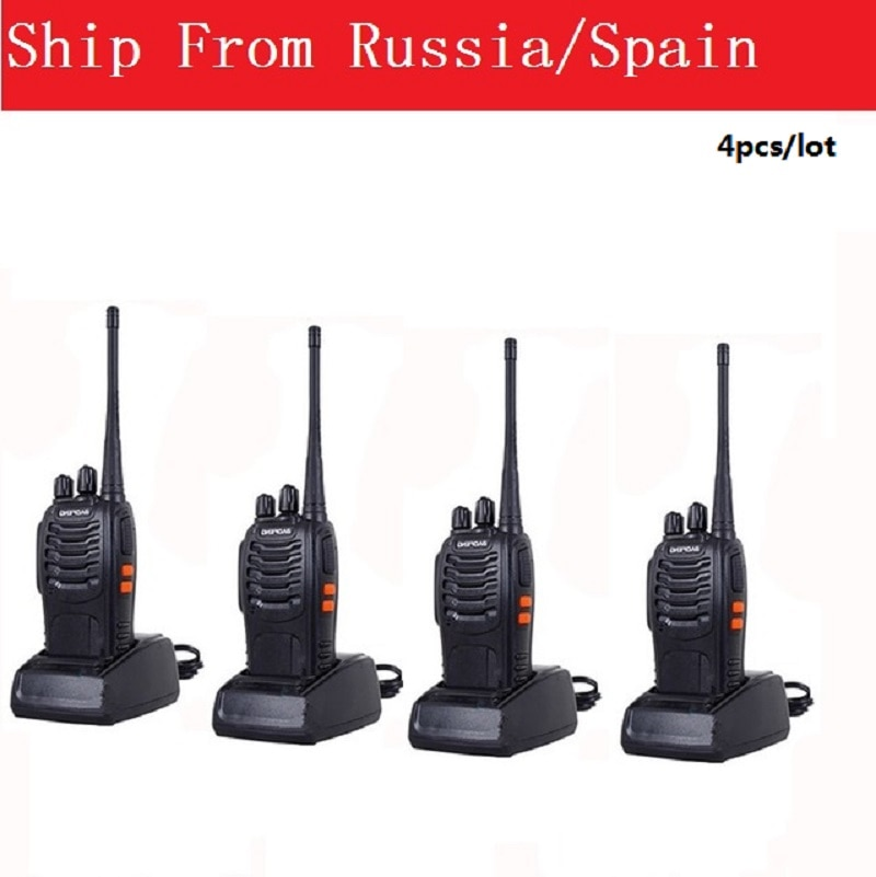 4pcs/lot Baofeng BF-888S Walkie Talkie Portable Radio CB radio station ham radio BF 888S Comunicador Transceiver two way radio