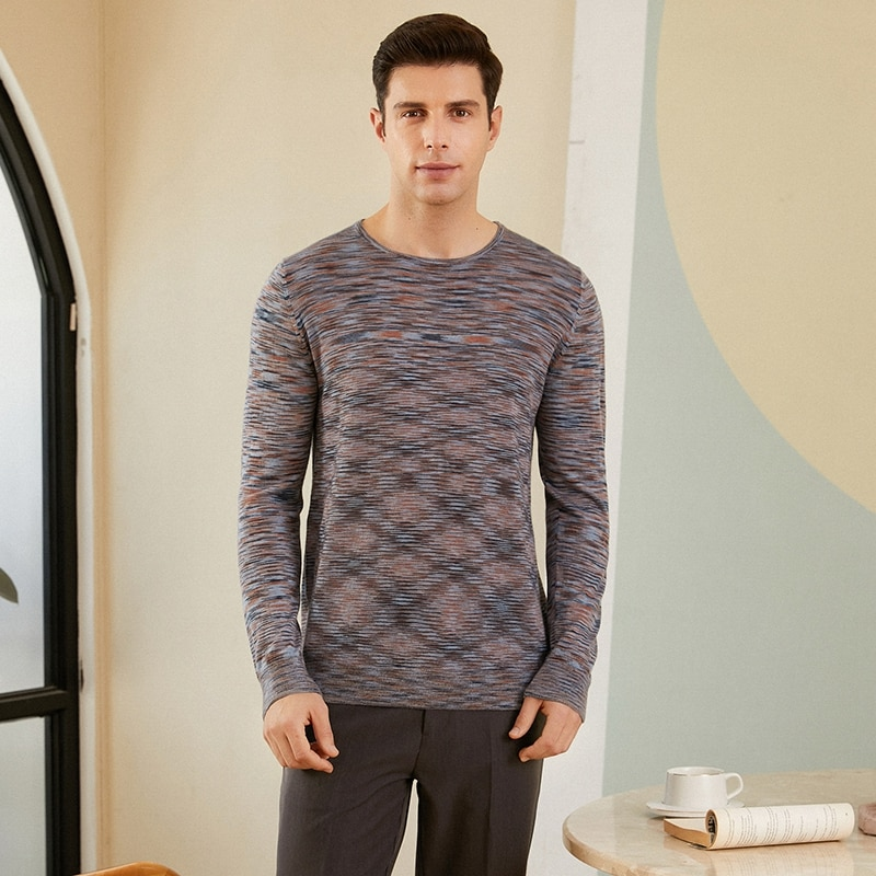 2021 autumn and winter new style 100% cashmere sweater men's fine imitation thin pure cashmere sweater