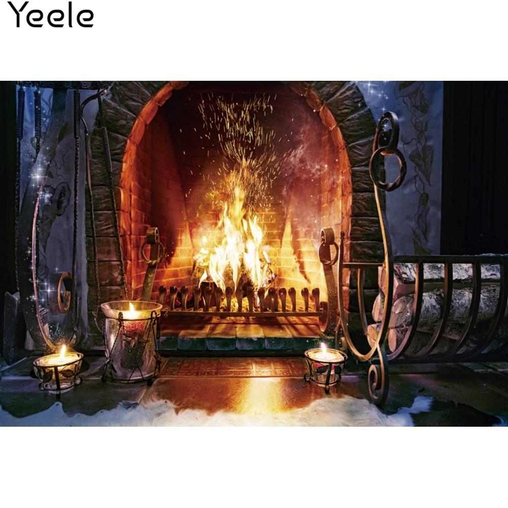 Yeele Fireplace Wallpaper Bedroom Decoration Wood HePhotography Backdrops Personalized Photographic Backgrounds For Photo Studio