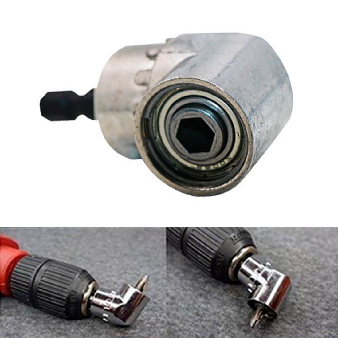Durável 1/4 hex shank ângulo chave de fenda para broca de energia extensão chave de fenda acessórios broca