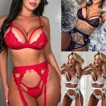 Erotic Lingerie Women Sexy Lingerie Lace Nightwear Dress Embroidery Lace Baby Dolls Lenceria Sexy Sl