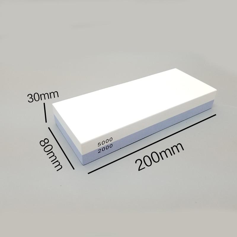 Gran Piedra de aceite de doble cara piedra de afilar 200mm * 80mm silicona anti-deslizante base afilador cuchillo Sistema de afilado