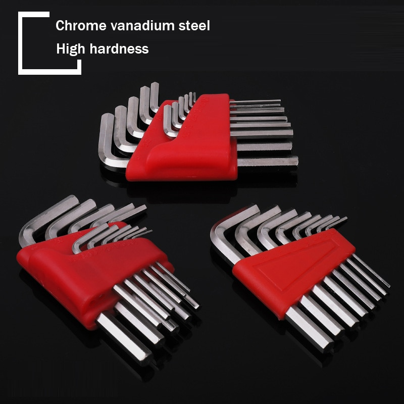 11Pcs 9Pcs 5Pcs Hex Key Hexagon Wrench Key-Wrench Metric British Short Ball Head L-Type  1/16- 1/4 Inch & 1.5mm-6mm