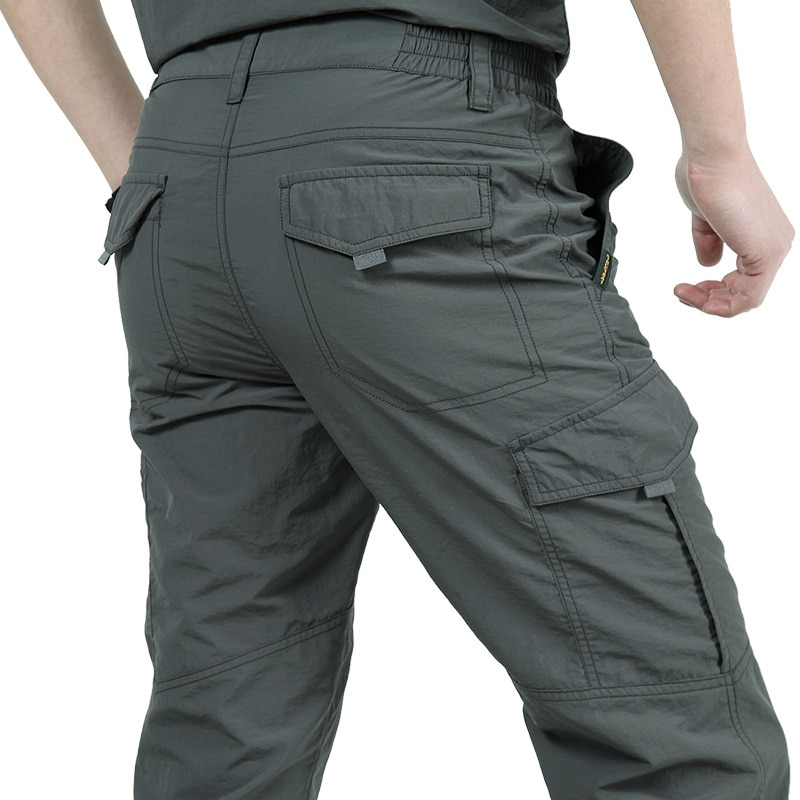 2020 men's lightweight summer breathable casual army trousers men's waterproof quick-drying overalls