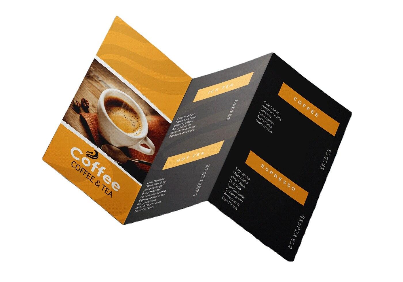 Folded Leaflet Flyer Promotion Printable Pamphlet Trifold Brochure Printing Service