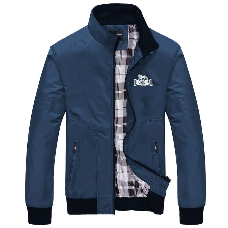 Куртка LONSDALE Мужская, модная ветровка, Бомбер, Повседневная Уличная одежда, весна-осень